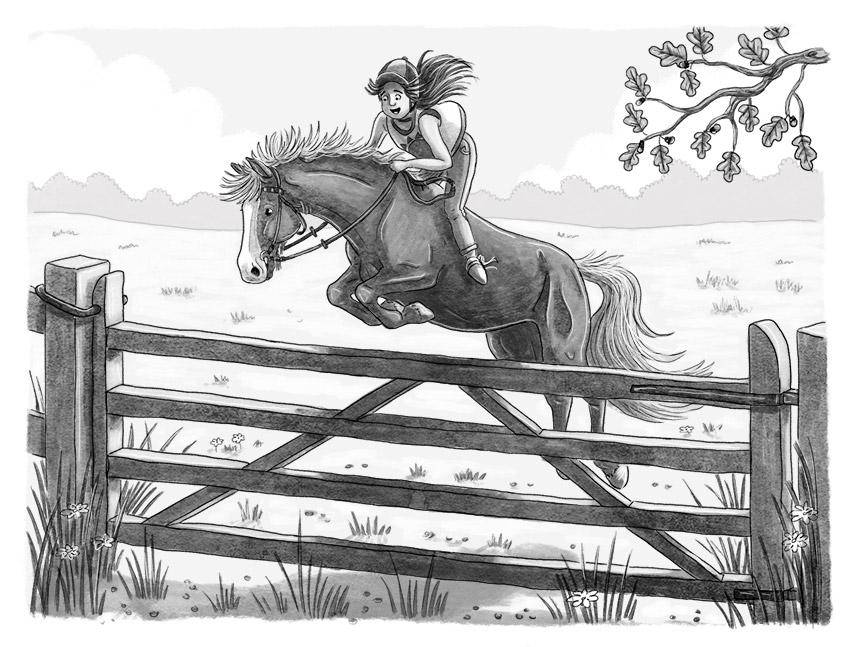 Illustration från Häst på annat vis, utgiven av Stabenfeldt.